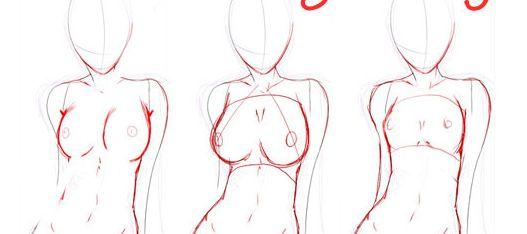 Как рисовать сиськи и попку фото 53-755